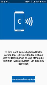 Digitale Karten in der VR-BankingApp bestellen